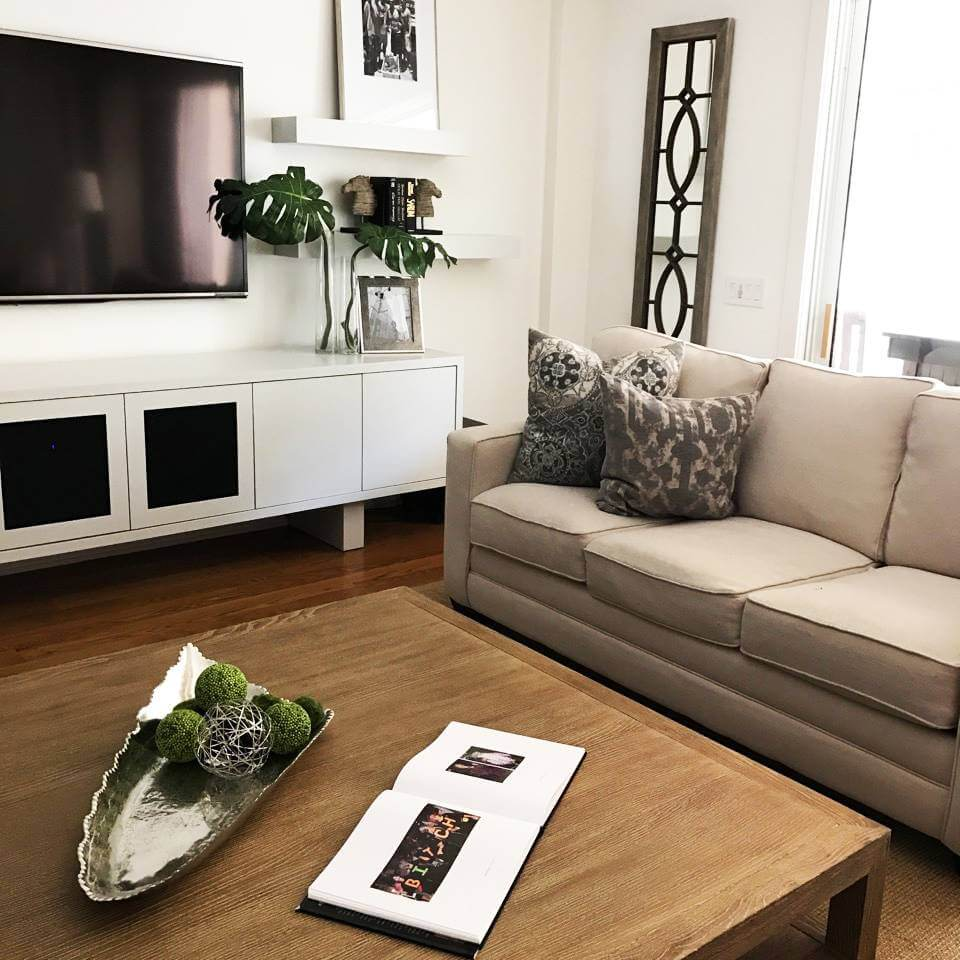 Living room interior design services we have provided in Orlando, FL
