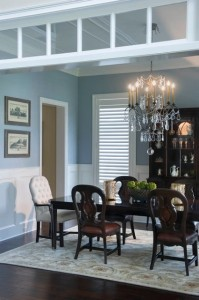 blue living room interior design winter park