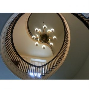 Commercial interior design and lighting fixtures