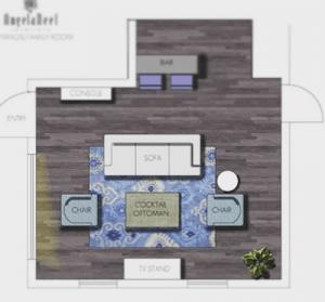 Floor Plan Development by an Interior Designer