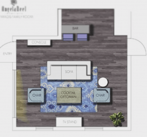 Floor plan development by an interior designer in Orlando